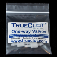 TrueClot one way valves